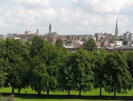 View over Thornes Park Wakefield